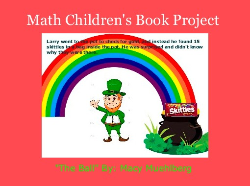 Kids Maths Book Cover : Quot math children s book project free books