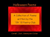 Halloween Poems